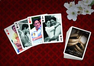 wedding anniversary playing card