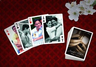wedding anniversary playing card