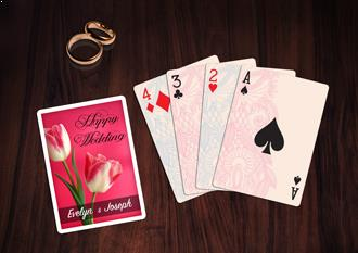 wedding playing card